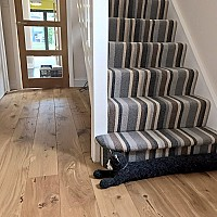 Staki 180mm oiled with new skirting boards