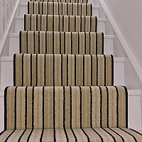 Stair Runner, supplied, shaped to clients spec, black whipped edges